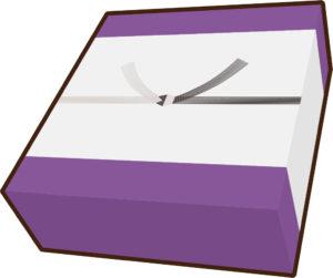 ご仏前結び切り箱紫