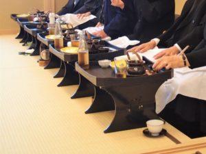 会食の写真