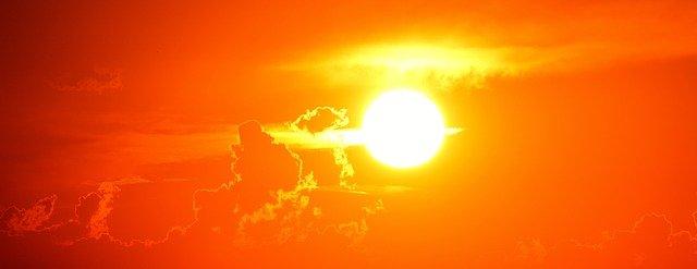 オレンジの夕陽