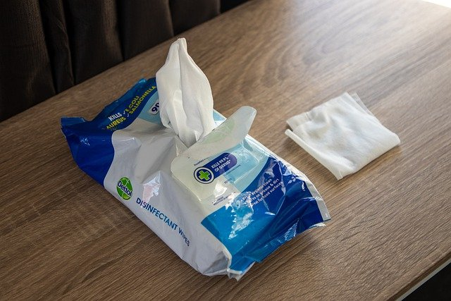 消毒用の紙のクリーナー