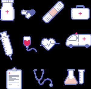 病院で使う器具のイラスト