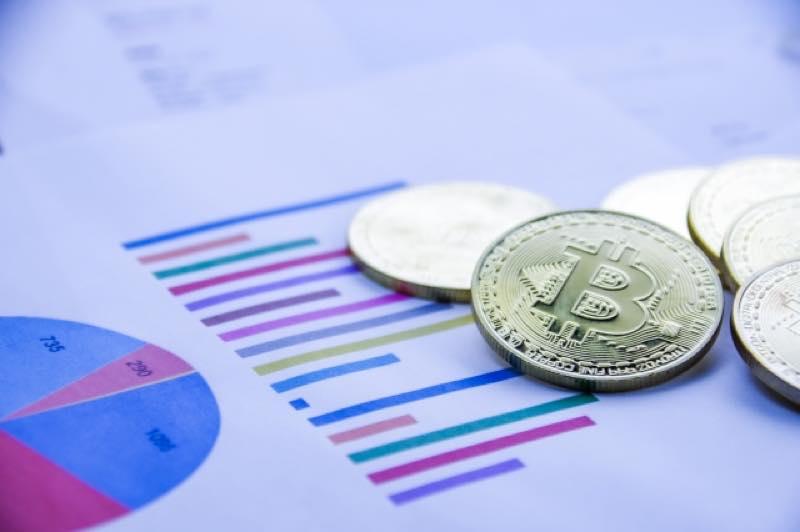 ビットコインと棒グラフ・円グラフ